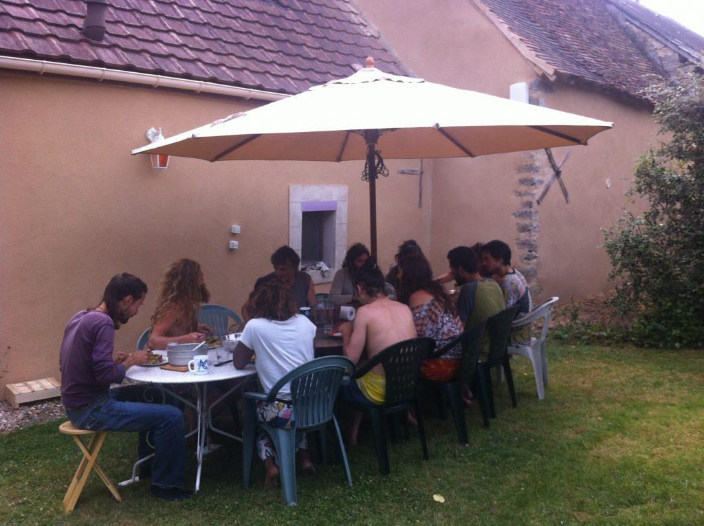 repas en extérieur